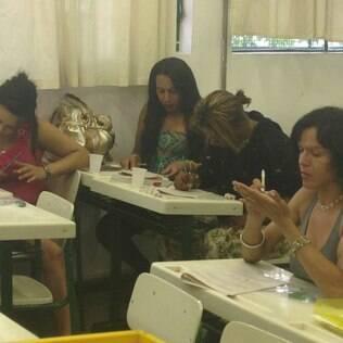 Para saber em qual módulo do supletivo serão matriculadas, as participantes fizeram uma prova