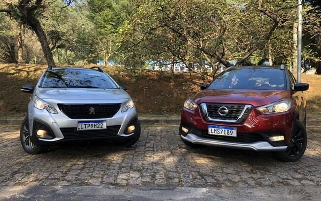 Peugeot 2008 e Nissan Kicks têm uma série de pontos em comum apesar da diferença no ranking de vendas