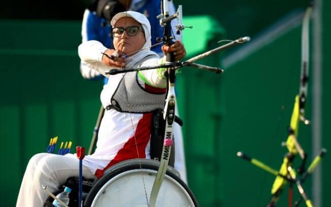 A iraniana Zahra Nemati competindo no Rio. Foto: Rio 2016/REPRODUÇÃO