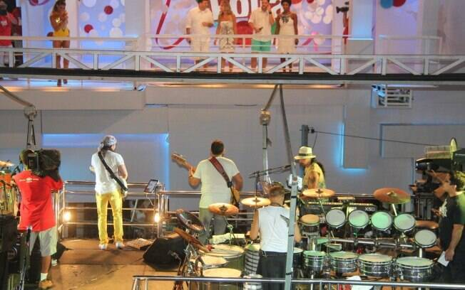 Grupo se apresentou para convidados em camarote no carnaval de Salvador