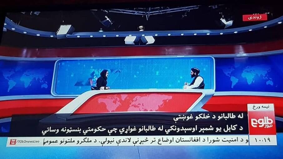 Hemad, porta-voz do Talibã, concede entrevista