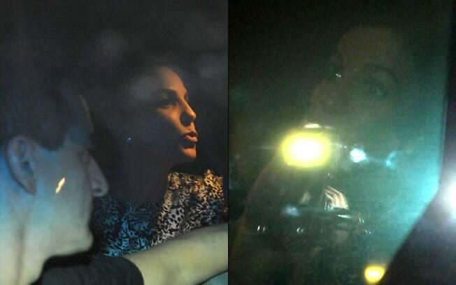 Ivete Sangalo é clicada dentro do carro enquanto deixava a Via Funchal