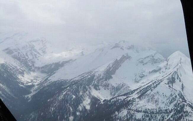 Imagem da região do acidente aéreo nos Alpes Franceses . Foto: Reprodução/Twitter
