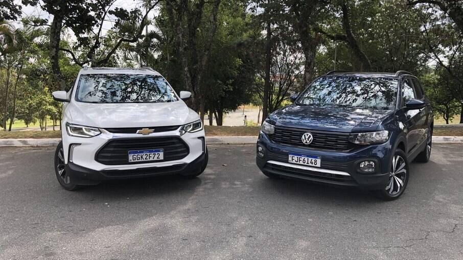 Chevrolet Tracker Premier 1.2 e VW T-Cross Comfortline: SUVs compactos bem equipados para a família