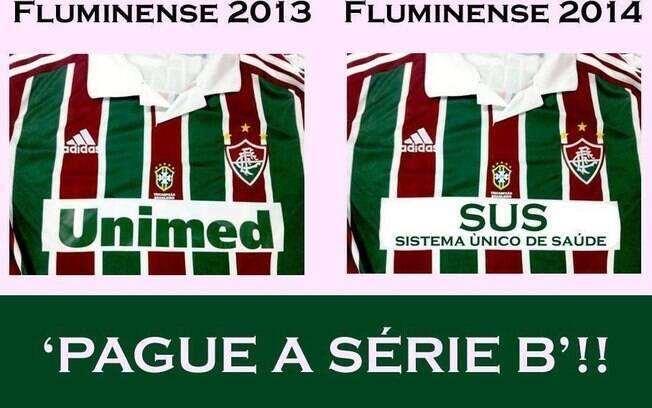 Até o patrocinador do Fluminense entrou na brincadeira. Foto  Reprodução b9394f9fe0e3e
