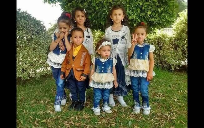 Último registro dos irmãos de Buthania, vítimas de bombardeio no Iêmen