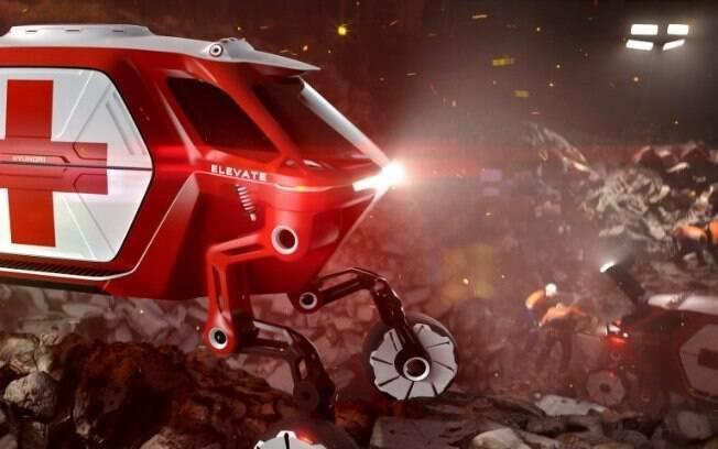 Hyundai Cradle que será mostrado no CES 2019 tem braços robóticos e pode escalar qualquer superfície