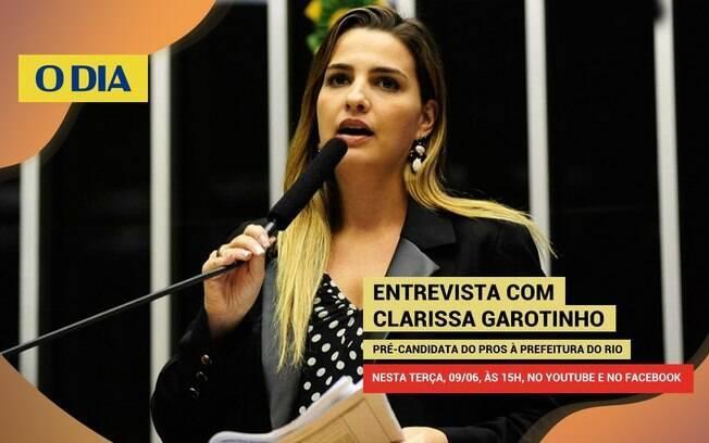 Clarissa Garotinho, pré-candidata à prefeitura do Rio de Janeiro pelo PROS