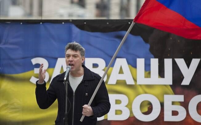 O líder oposicionista Boris Nemtsov: ele foi morto horas depois de ter feito denúncias contra Putin