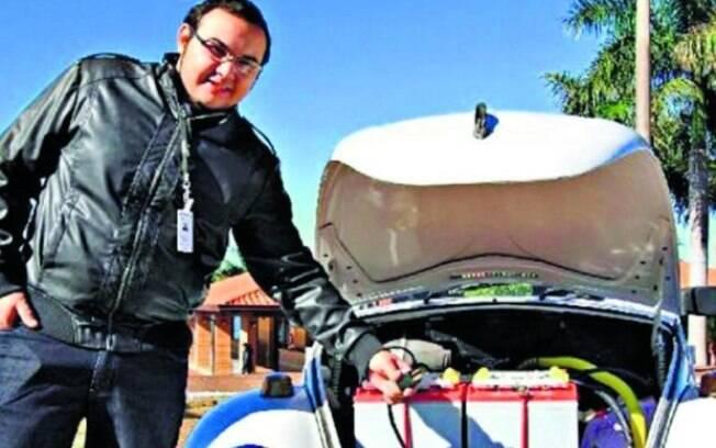 Inovação. Engenheiro paraguaio Mario Vernazza desenvolveu um Fusca elétrico. Foto: Arquivo pessoal