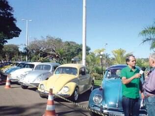Encontro do Clube do Fusca em Uberlândia, no Triângulo Mineiro