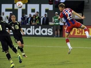 Mesmo com estrelas em campo, equipe alemã não conseguiu vencer estrelas do campeonato norte-americana