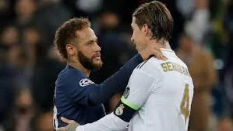 Sergio Ramos e Neymar
