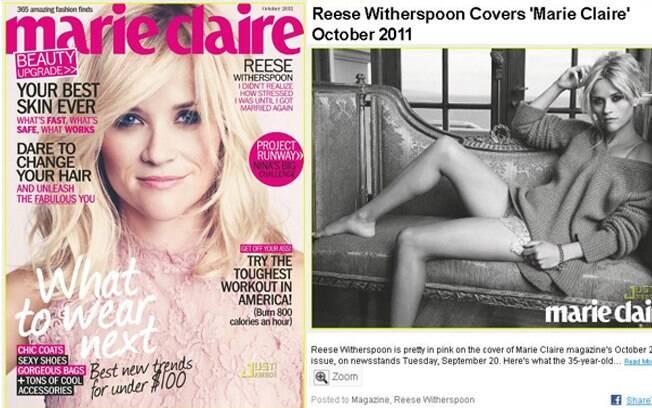 Reese Witherspoon falou que foi difícil ser mãe solteira