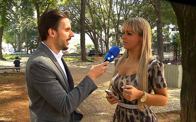 Angel Lima em entrevista para o 'TV Fama'