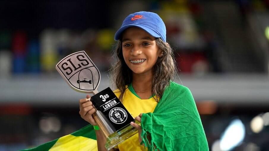 Rayssa Leal é a mais jovem a competir pelo skate nas Olimpíadas