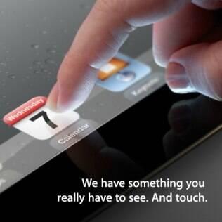 Convite enviado pela Apple para chamar jornalistas ao evento de 7 de março