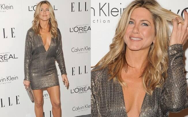 Jennifer Aniston decotada no Elle Annual Women in Hollywood