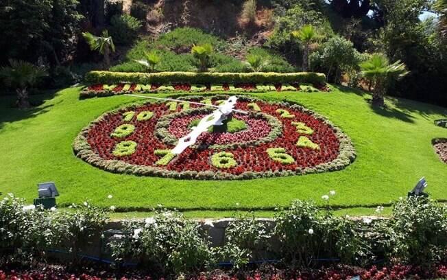 Relógio de flores em Viña del Mar, que embelezou as memórias da viagem com o Nissan X-Trail