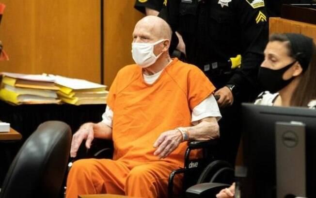 Joseph DeAngelo, o 'assassino de Golden State', durante seu julgamento