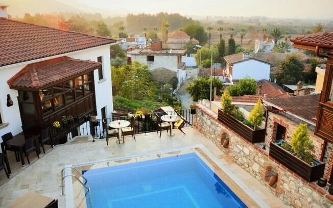 Ayasoluk Boutique Hotel & Restaurant, está localizado em Selcuk, na Turquia. O local é aconchegante e rústico