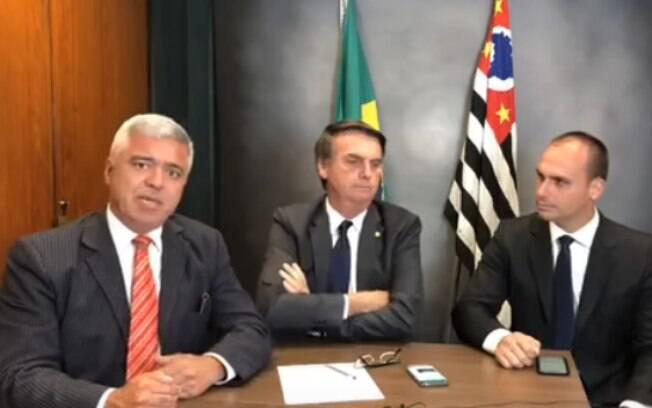 Major Olímpio, Jair Bolsonaro e Eduardo