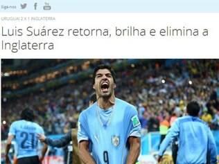 Manchete da matéria no site da Fifa decretou eliminação do time inglês