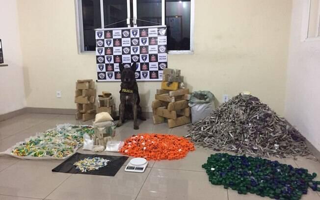 Canil da PM apreendeu grande quantidade de drogas na zona sul da capital