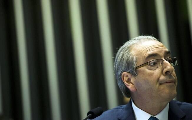 Cunha pareceu respirar aliviado depois da leitura do pedido de impeachment protocolado na Casa contra a presidente Dilma . Foto: Marcelo Camargo/ Agência Brasil - 3.12.15
