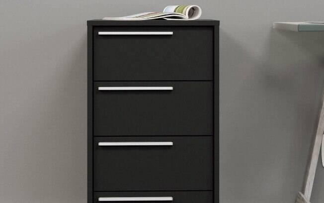 Os gaveteiros podem ser usados tanto no banheiro como também em escritórios, de acordo com a preferência do morador