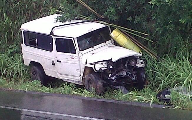 O outro carro envolvido no acidente