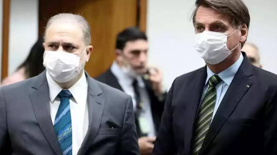 Augusto Aras e Bolsonaro