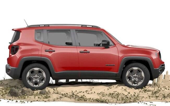 O racks no teto fazem parte dos itens de série da versão STD do Jeep Renegade, mas não estão na versão para PcD