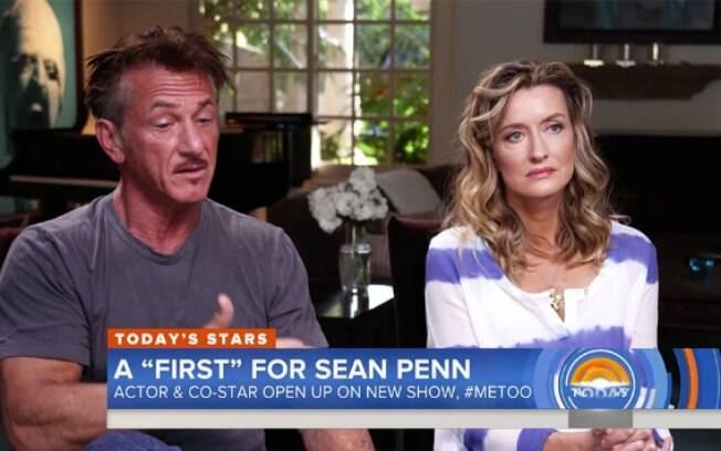 Sean Penn e Natascha McElhone concederam entrevista ao programa norteamericano