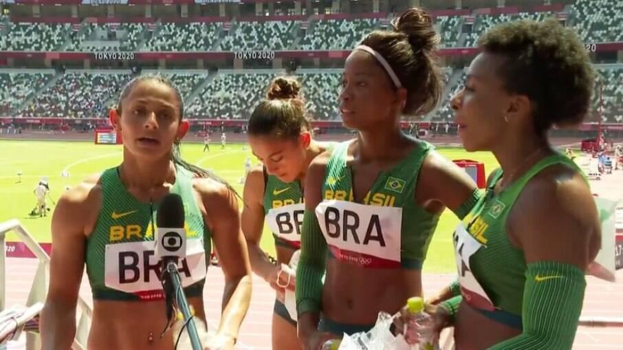 Equipe brasileira feminina não avançou à final do revezamento 4x100m