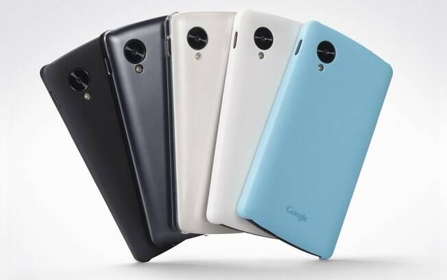 Feito em parceria com a HTC, o Nexus 5 tem tela Full HD de 5 polegadas, câmera traseira de 8 pixels e frontal de 1.3 megapixels