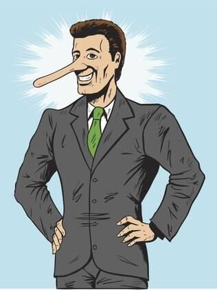 Estudos estimam que mentimos, em média, três vezes por minuto
