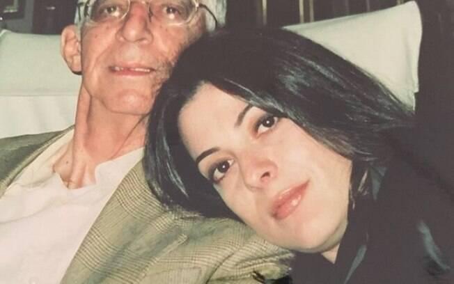 Ana Paula Padrão e seu pai