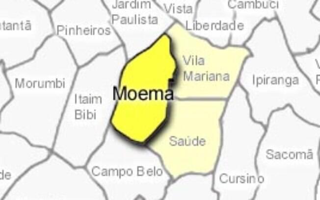 O distrito de Moema fica em São Paulo, SP