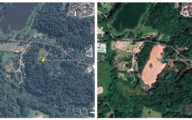 Imagens de satélite mostram desmatamento no bioma Amazônia