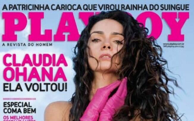 Claudia Ohana estampou a capa da 'Playboy' aos 45 anos
