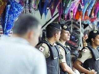 Ontem, militares patrulhavam avenida João César de Oliveira