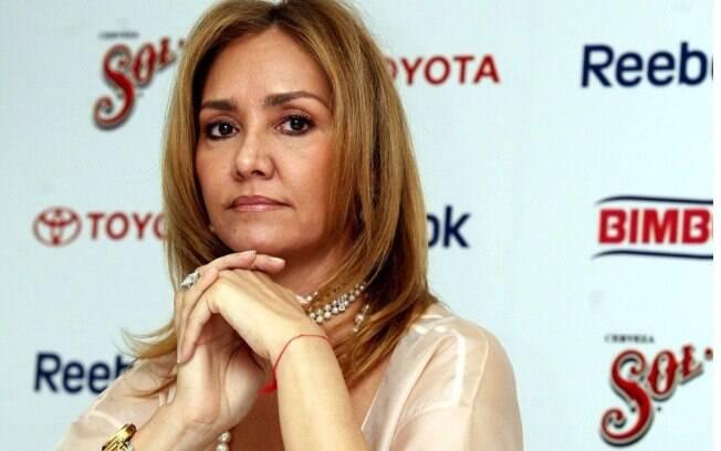 Angélica Fuentes Téllez ficou conhecida como primeira dama do futebol mexicano. Ela também é chamada de