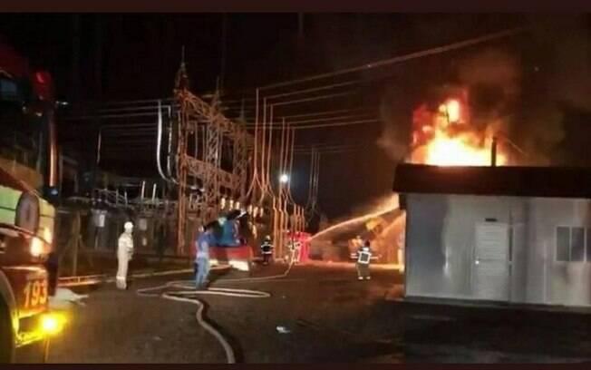 Um transformador foi atingido por um incêndio na última terça-feira (3), causando o apagão no estado do Amapá.