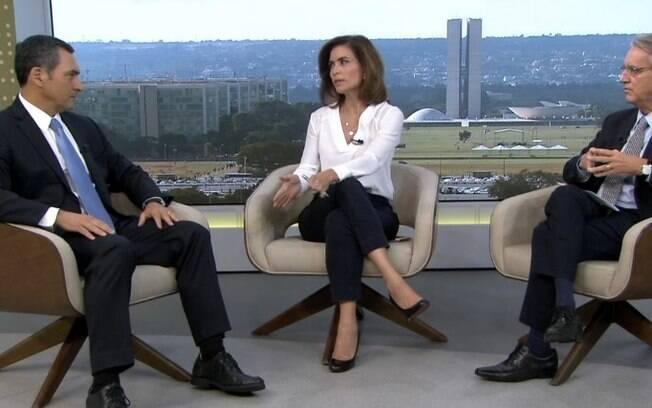 Valdo Cruz e Giuliana Morrone entrevista ministro da fazenda