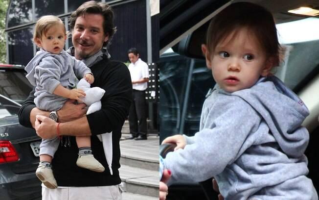 Papai coruja: Alexandre Iódice com o filho Vittorio