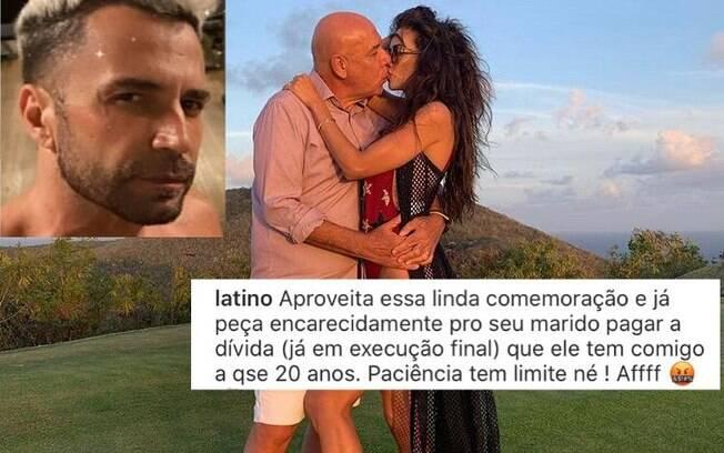 Latino cobra dívida em foto de Daniela Albuquerque