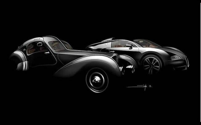 O Bugatti Type 57 SC Atlantic tinha a frente muito alongada e a cabine bem recuada, ao contrário do Voiture Noire