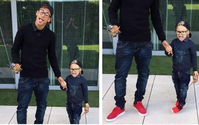 e15e521fce3513 Neymar Jr. veste o filho sempre igual a ele - TV & Novelas - iG