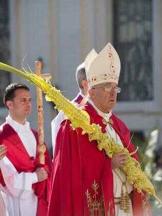 Papa Francisco celebra missa do Domingo de Ramos na Praça de São Pedro, Vaticano (29/03)